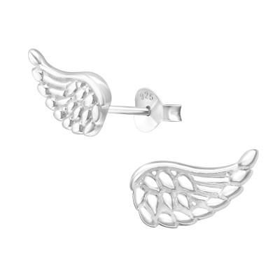 Silver Wing Ear Studs