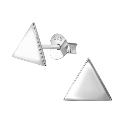 Triangle Sterling Silver Ear Studs