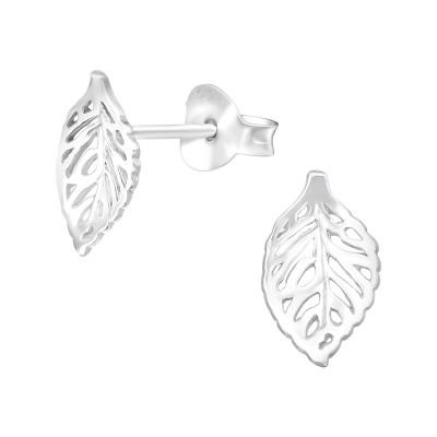 Silver Leaf Ear Studs