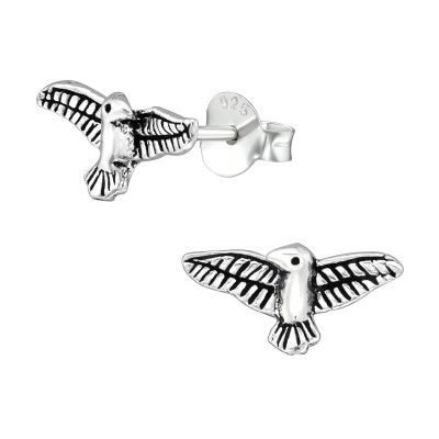 Silver Eagle Ear Studs