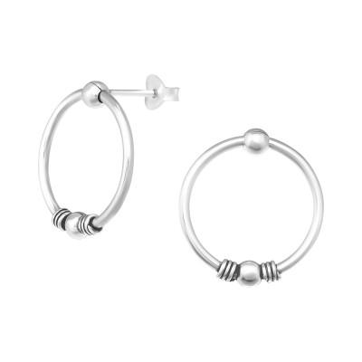 Silver Bali Ear Studs