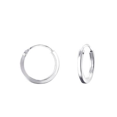 Silver 14mm Ear Hoops