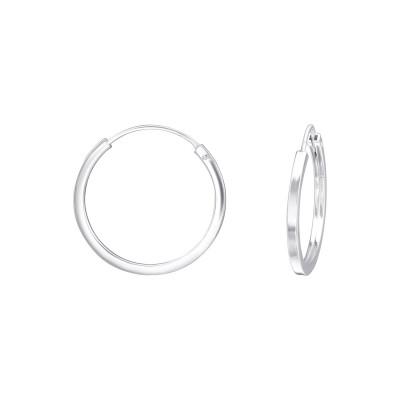 Silver 20mm Ear Hoops