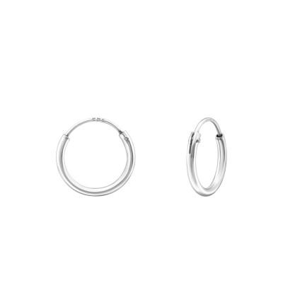 Silver 10mm Ear Hoops