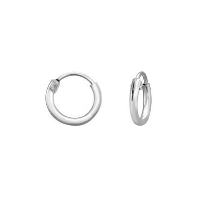 Silver 8mm Ear Hoops