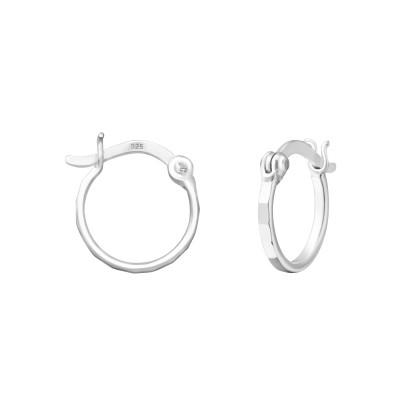 Silver 12mm Ear Hoops