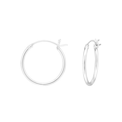 Silver 16mm Ear Hoops