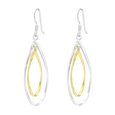 Silver Pear Shaped Earrings