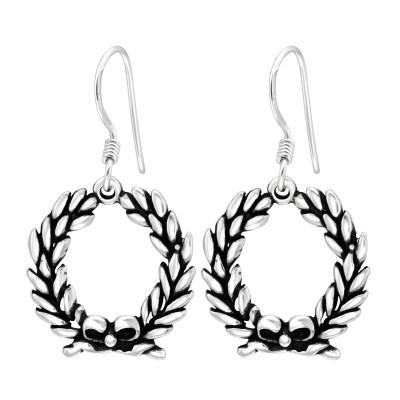 Silver Wreath Earrings