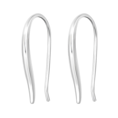 Silver Curved Earrings