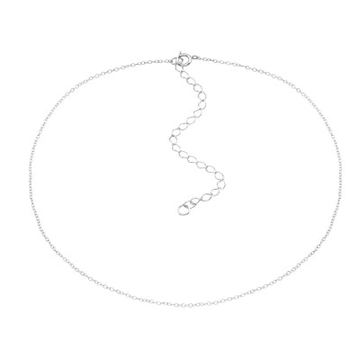 Silver Choker 38cm Cable Chain With 8cm Extension Included