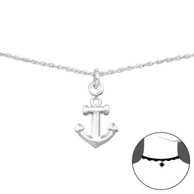 Silver Anchor Choker