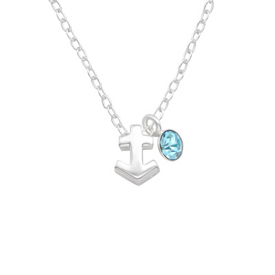 Silver Sagittarius Zodiac Sign Necklace with Crystal
