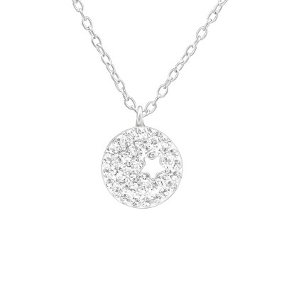 Silver Star Necklace with Crystal