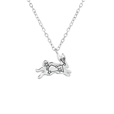 Silver Constellation Necklace with Cubic Zirconia