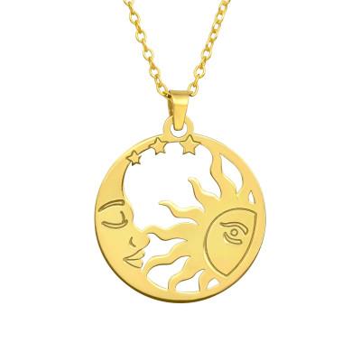 Silver Laser Cut Sun Necklace
