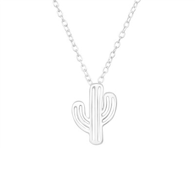 Silver Cactus Necklace