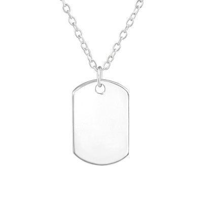 Silver Tag Necklace