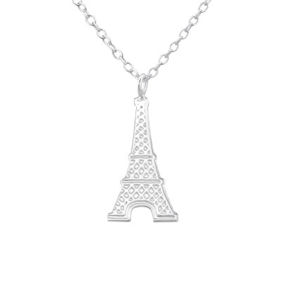 Silver Eiffel Tower Necklace