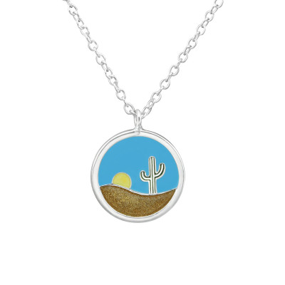 Silver Deserts Necklace with Epoxy