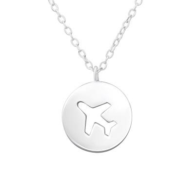 Silver Plane Necklace