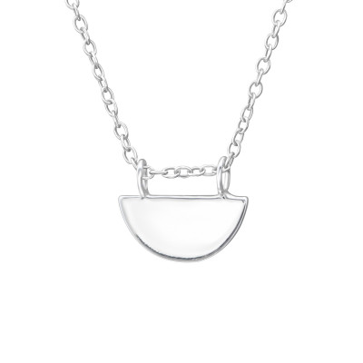 Silver Semicircle Necklace