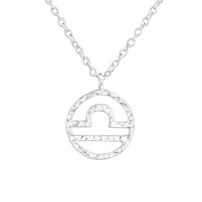 Silver Libra Zodiac Sign Necklace