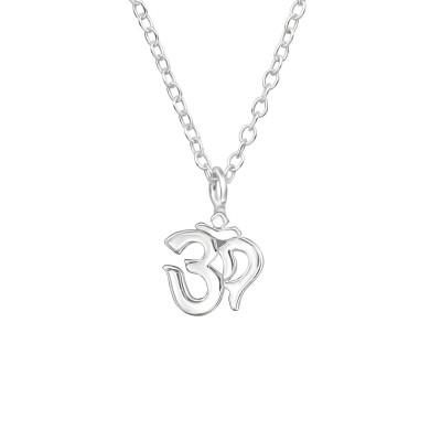 Silver Om Symbol Necklace