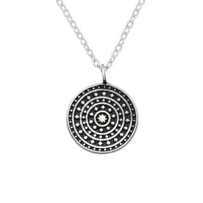 Silver Oxidized Necklace