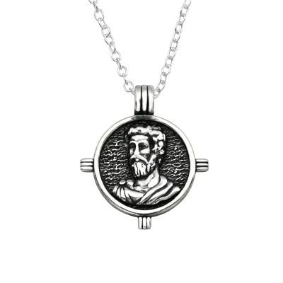 Silver Jesus Necklace