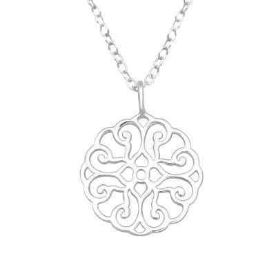 Silver Arabesque Necklace