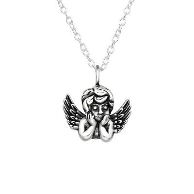 Silver Cupid Necklace