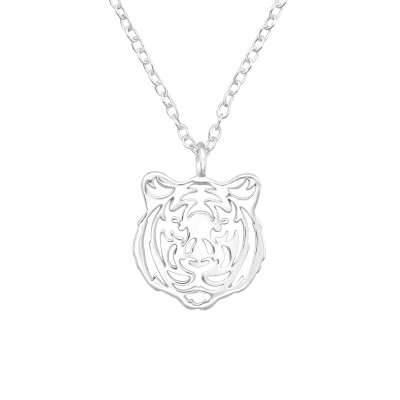 Silver Tiger Necklace