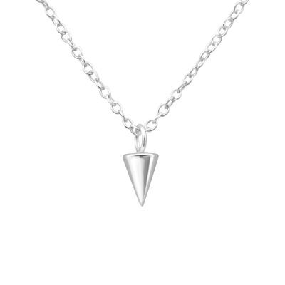 Silver Cone Necklace