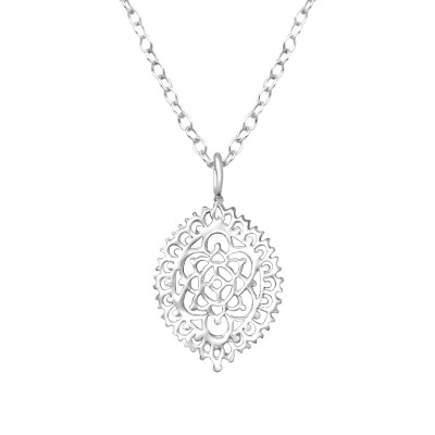 Silver Pattened Necklace