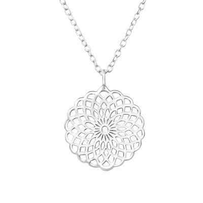 Silver Mosaic Necklace
