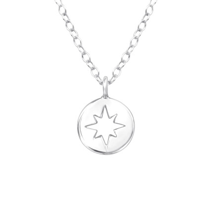 Silver Northern Star Necklace