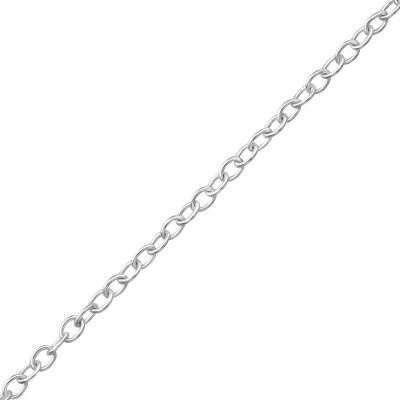 40cm Silver Cable Chain with 7cm Extension Included