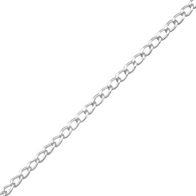 45cm Silver Curb Chain