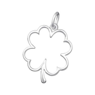 Silver Lucky Clover Pendant