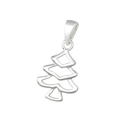 Silver Christmas Tree Pendant