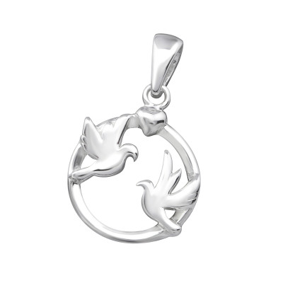 Silver Love Birds Pendant