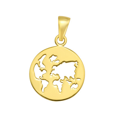 Silver Earth Pendant