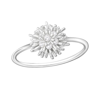 Silver Cluster Ring with Cubic Zirconia