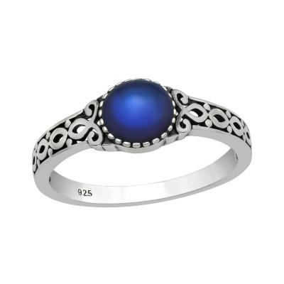 Silver Braided Mood Ring