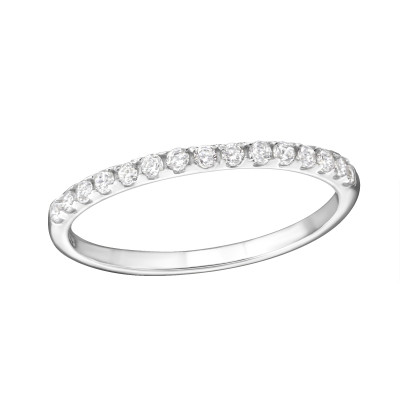 Silver Sparkling Ring with Cubic Zirconia
