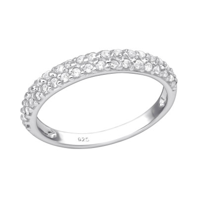 Silver Eternity Ring with Cubic Zirconia