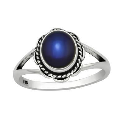 Silver Flower Mood Ring