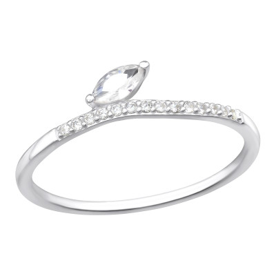 Silver Marquise Ring with Cubic Zirconia