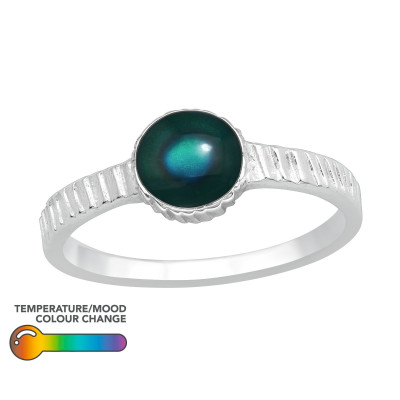 Silver Oval Mood Ring